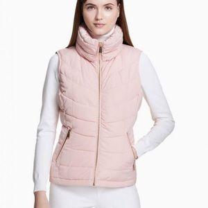 NWOT Calvin Klein Puffer Vest in Rose Pink